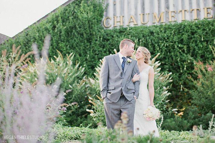 winery wedding couple